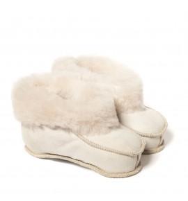 Chaussons en peau de mouton pour enfants - Naturel