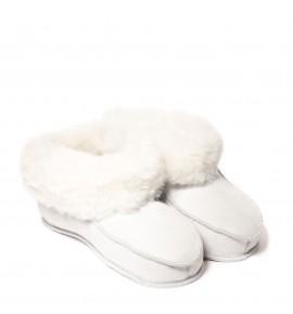 Chaussons en peau de mouton pour adulte - Blanc