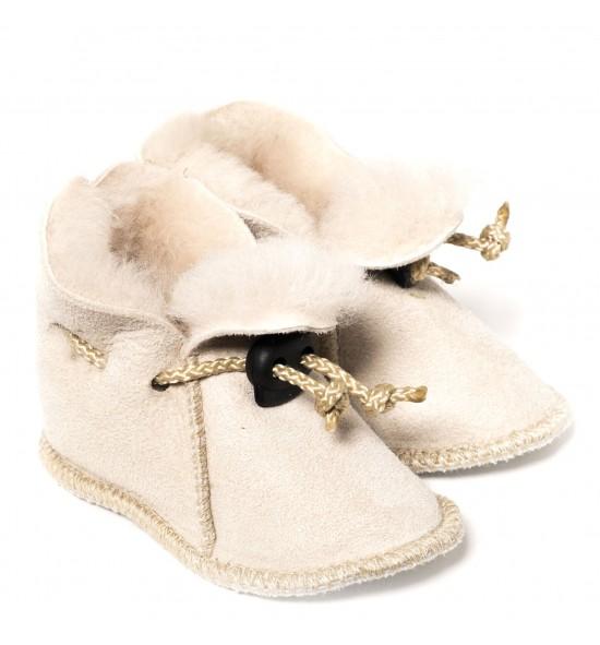 Chaussons en peau de mouton pour bébé - Naturel clair
