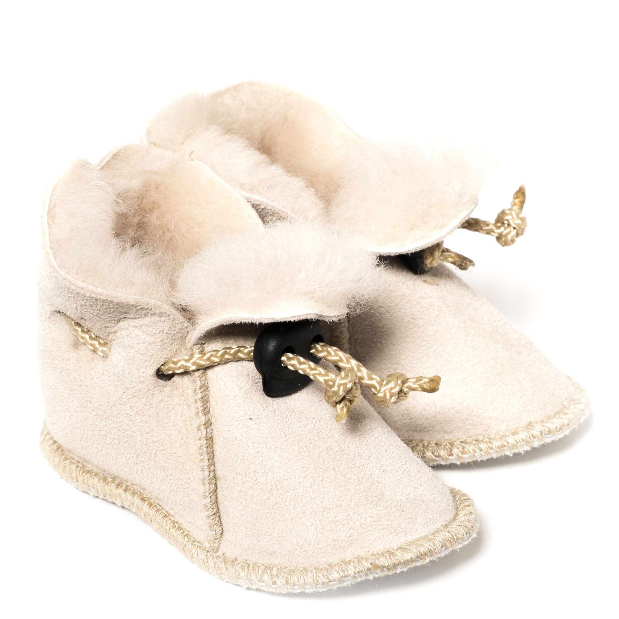 a0f48f89c9205 Chaussons en peau de mouton pour bébé - Naturel clair