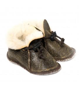 Chaussons en peau de mouton pour bébé - Bombardier