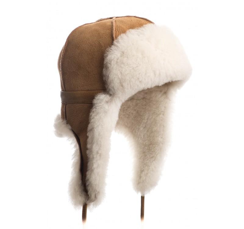 chapka en peau de mouton naturel. Black Bedroom Furniture Sets. Home Design Ideas