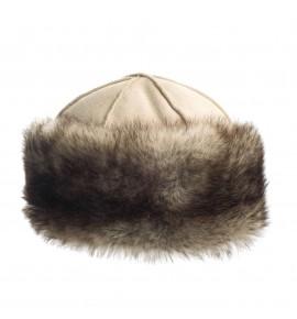 Toque en peau de mouton - Beige - Toscane Gris