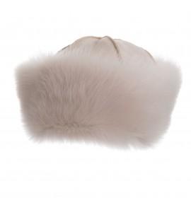 Toque en peau de mouton - Blanc - Toscane Blanc