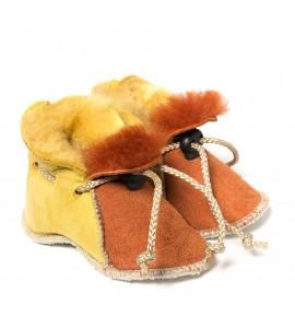 Chaussons en peau de mouton pour bébé - Sienne Jaune