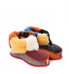 Chaussons en peau de mouton pour enfants - Funky