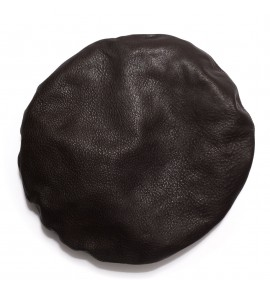 Béret en agneau plongé - Chocolat Noir