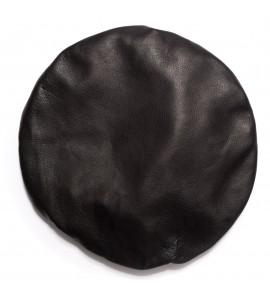Béret en agneau plongé - Noir